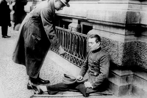 Invalider nach dem Weltkrieg